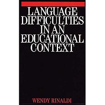 Dificultades de lenguaje en un contexto educativo