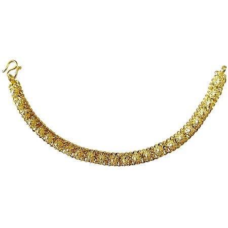 Flower Designed Gold Bracelet Very Beautiful Gold Plated Bracelet