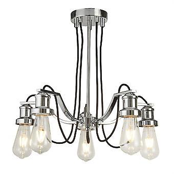 Cromo de Olivia y cinco lámpara luz negra - reflector 1065-5CC