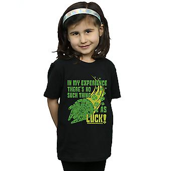 Star Wars Girls Millennium Falcon Shamrock Luck T-Shirt