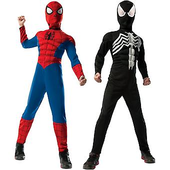 Deluxe Reversible Spiderman Child Costume