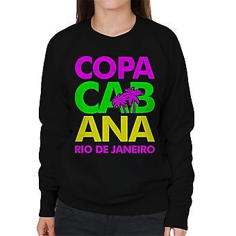 Copacabana Neon Lettering Women's Sweatshirt