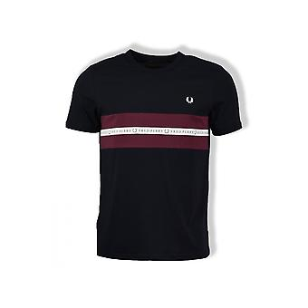 Fred Perry Sports Tape T-Shirt (Navy)