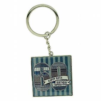 Gents LD Design Denim Collection 60th Birthday Keyring In Presentation gift Box