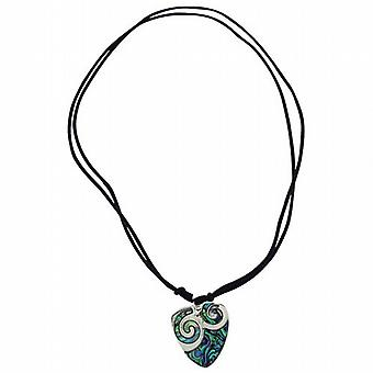 The Olivia Collection Plectrum Shaped Paua Shell Pendant on 18