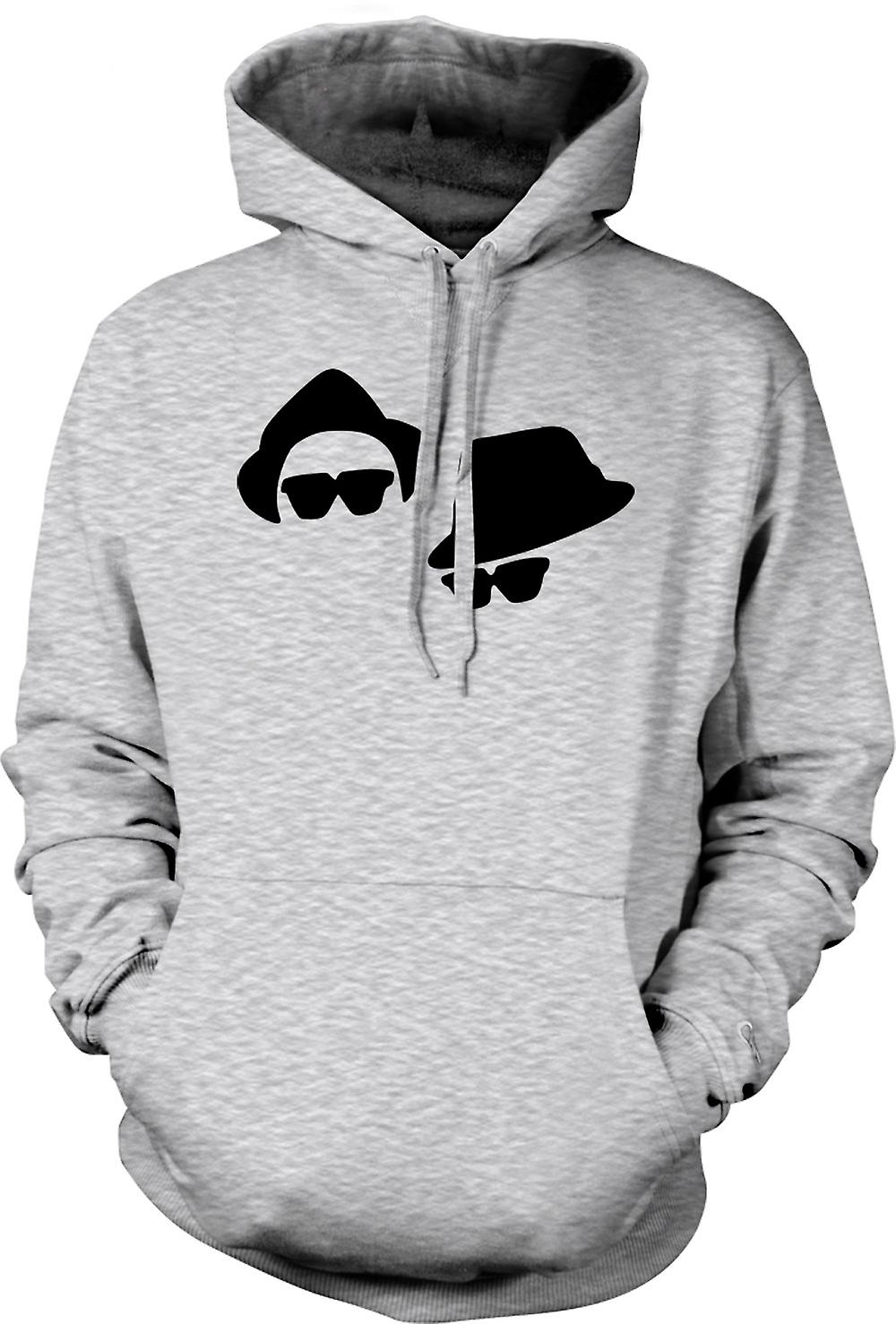Mens Hoodie - Blues Brothers Faces