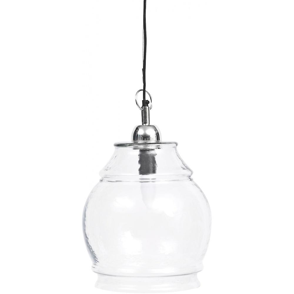 Libra Furniture Clear Glass And Nickel petit pendentif