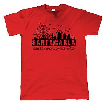 Santa Carla Kult 80er Jahre Film Herren T-Shirts | Retro 80er Jahre Kultkino | Vampir Comic Buch Horror | TV & Film Geschenk Ihn Papa