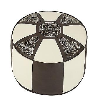 Cushion stools furniture stools pouf Oriental brown/white round faux leather