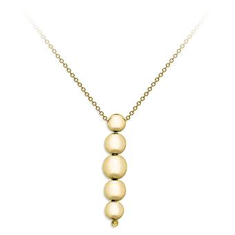 Jewelco Londen 9ct Gold 5 afstuderen kralen drop ketting