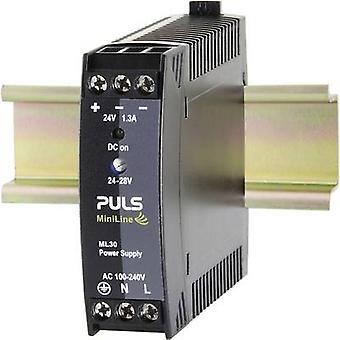 PULS MiniLine ML30.241 Rail mounted PSU (DIN) 24 Vdc 1.3 A 30 W 1 x