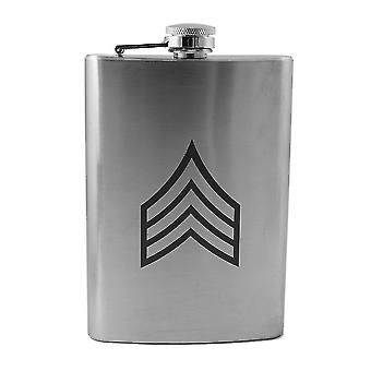 8oz army rank - sergeant flask