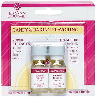 Candy & Baking Flavoring .125Oz Bottle 2 Pkg Buttered Popcorn Flavor 0892