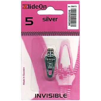 Zlideon Zipper Pull Replacements Invisible 5 Silver 3057 3