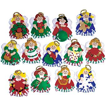 Angel Ornaments Felt Applique Kit 3