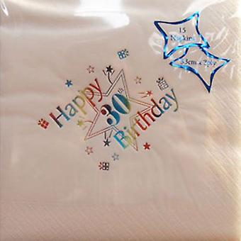 Luxury Happy 30th Birthday Napkins 30th Party Tableware Decorations