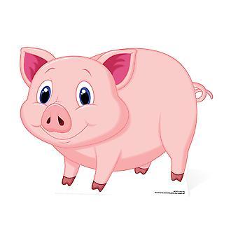 Cute Lucky Pig (Glucksschwein) large Cardboard Cutout / Standee / Stand Up