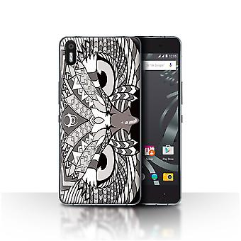 STUFF4 Case/Cover for BQ Aquaris X5/Owl-Mono/Aztec Animal