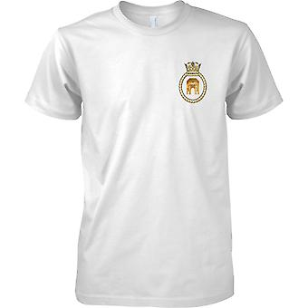 HMS Monmouth - actual buque de la Armada Real t-shirt color