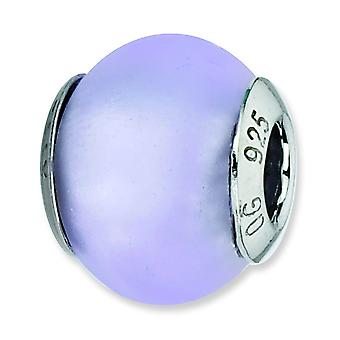 Sterling Silver Polished Matte finish Antique finish Italian Murano Glass Reflections Light Blue Matte Italian Murano Be