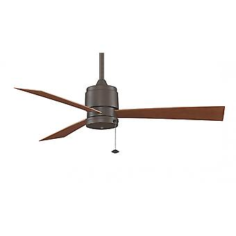 Fanimation Outdoor Ceiling Fan THE ZONIX Oil rubbed bronze WET with pull cord