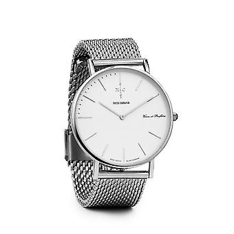 Nick Cabana Blanc Mesh Bracelet Watch