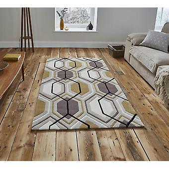 Moderne tapijten-tapijten van de HK 7526-Beige gele rechthoek