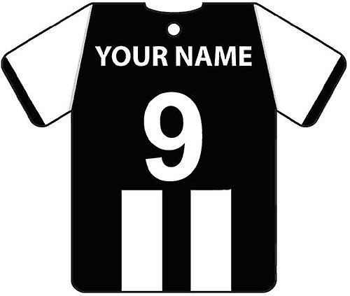 Personalised Newcastle Football Shirt Car Air Freshener