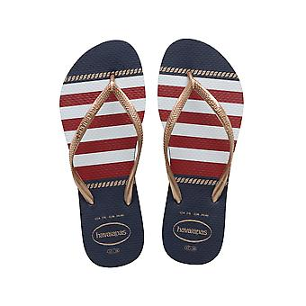 Blue Havaianas 41371250555 Slim Nautical  Navy