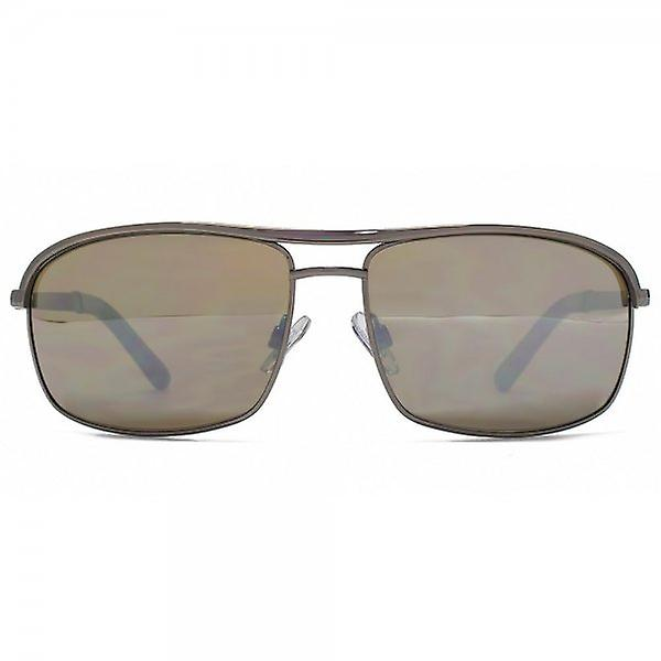 FCUK Metal Rectangle Sunglasses In Dark Gunmetal