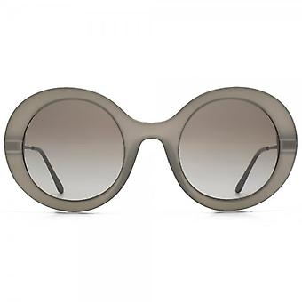 Giorgio Armani Super Round Sunglasses In Matte Mud