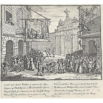 William Hogarth - Lame theater Poster Print Giclee
