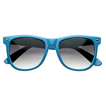 Large Classic Color Horn Rimmed Bright Retro Style Sunglasses