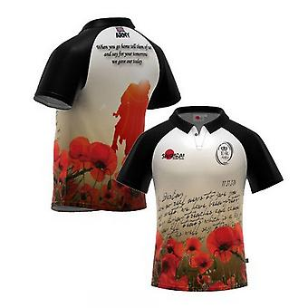 British Army Letter Home Poppy Rugby Shirt