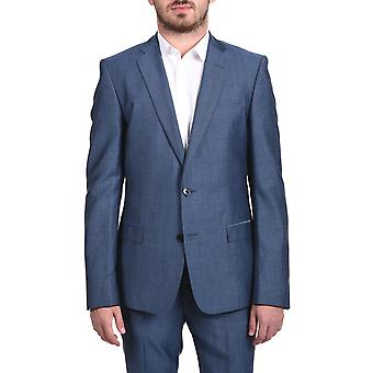 Verasce Collection Men Two-piece Wool Suit Pindot Light Blue
