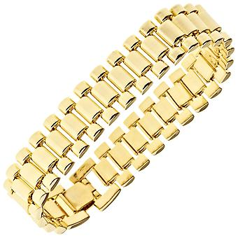 Iced Out Hip Hop Bling Armband - LINK 15mm gold
