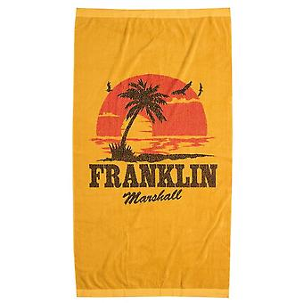 Franklin & Marshall Ua942 Printed Gold Sand Unisex Beach Towel