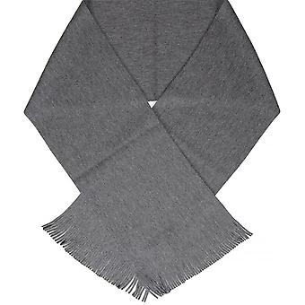 Hugo Boss Green C-albas Wool Plain Dark Grey Scarf