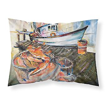 Carolines Treasures  JMK1104PILLOWCASE Blue Crab Trap Fabric Standard Pillowcase