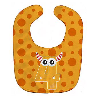 Carolines Treasures  BB8854BIB Monster Month 4 Baby Bib