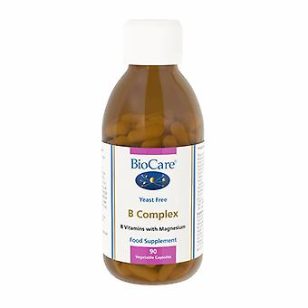 Biocare B Complex (enzyme activated plus magnesium), 90 vegi caps