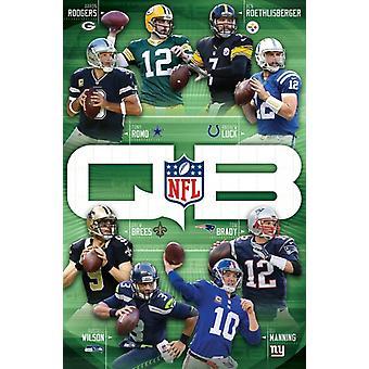 Rozgrywający NFL - 16 plakat Poster Print