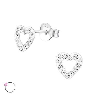 Heart crystal from Swarovski® - 925 Sterling Silver Children's Ear Studs