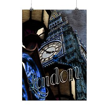 Matte or Glossy Poster with Clock Urban Photo London | Wellcoda | *q2