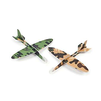 24 Assorted Coloured Army Camouflage Gliders for Party Bags