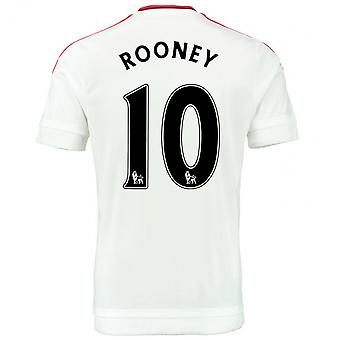 2015-2016 man Utd bort skjorta (Rooney 10) - barn