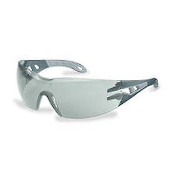 Uvex 9192-285 Pheos Grey Sunglare Supravision HC-AF Safety Spectacles