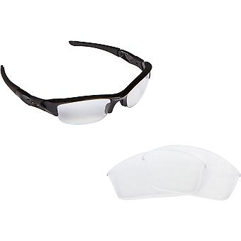 HALF JACKET Replacement Lenses Crystal Clear by SEEK fits OAKLEY Sunglasses