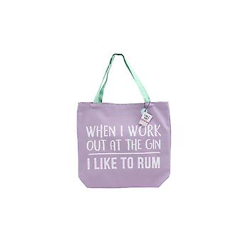 CGB Giftware Gym And Tonic I Like To Rum Tote Bag