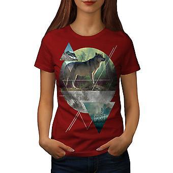 Wild Spirit Damen RedT-Shirt Wolf | Wellcoda